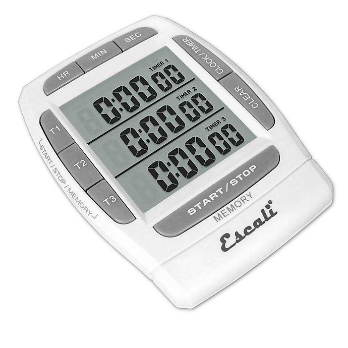 Alternate image 1 for Escali® Triple Event Digital Timer in White