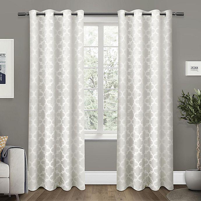 Alternate image 1 for Exclusive Home Cartago 84-Inch Room-Darkening Grommet Top Window Curtain Panel Pair in Vanilla