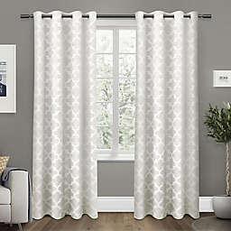 Exclusive Home Cartago 2-Pack 96-Inch Room-Darkening Grommet Top Window Curtain Panels in Vanilla