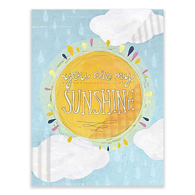 "GreenBox Art Yellow Button Studio 18-Inch x 24-Inch ""You Are My Sunshine"" Wheatpaste Wall Art"