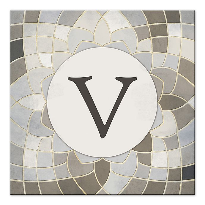 Alternate image 1 for Designs Direct Mosaic Geige Beauty Monogram Canvas Wall Art