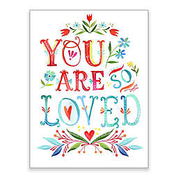 """Greenbox Art Katie Daisy 18-Inch x 24-Inch """"You Are So Loved"""" Wheatpaste Poster"""