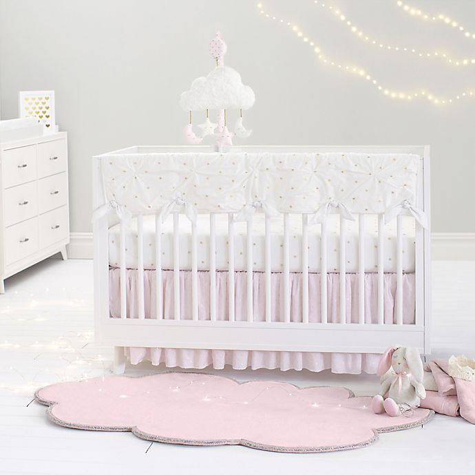 Alternate image 1 for Just Born® Sparkle Crib Bedding Collection in Ivory