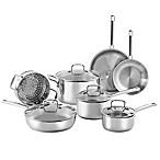 SALT® 11-Piece Stainless Steel Cookware Set