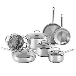 SALT®11-Piece Stainless Steel Cookware Set