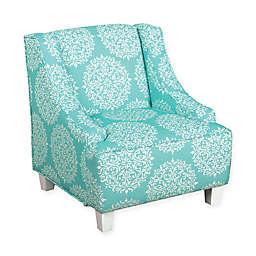 KinFine HomePop Medallion Accent Furniture in Aqua