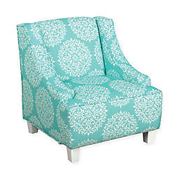 KinFine HomePop Medallion Accent Furniture in Aqua