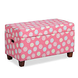 HomePop Juvenile Storage Bench in Pink