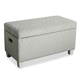 KinFine HomePop Cameron Storage Bench in Grey