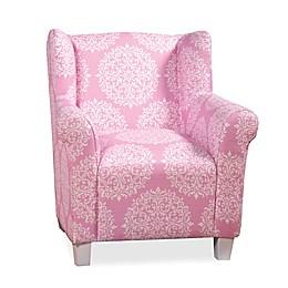 Kids' Pink Medallion Print Chair