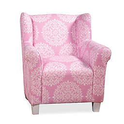 Kid's Pink Medallion Print Chair