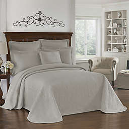 Historic Charleston Collection Matelasse Queen Bedspread in Grey