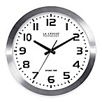 La Crosse 16-Inch Atomic Metal Wall Clock