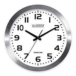 La Crosse 16-Inch Atomic Metal Wall Clock