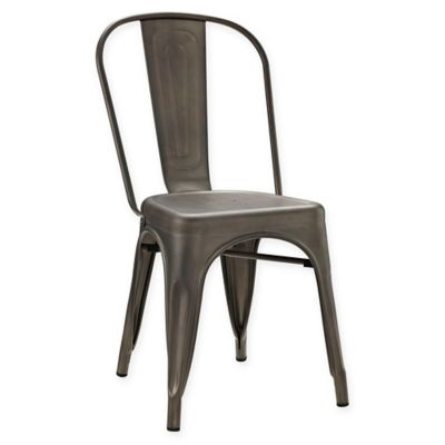 Awesome Modway Promenade Steel Dining Side Chair Bralicious Painted Fabric Chair Ideas Braliciousco