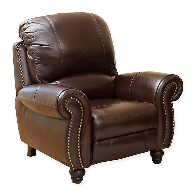 Superb Abbyson Living Charlotte Leather Recliner In Burgundy Bed Ibusinesslaw Wood Chair Design Ideas Ibusinesslaworg