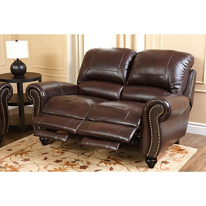 Enjoyable Abbyson Living Charlotte Leather Loveseat In Burgundy Bed Ibusinesslaw Wood Chair Design Ideas Ibusinesslaworg