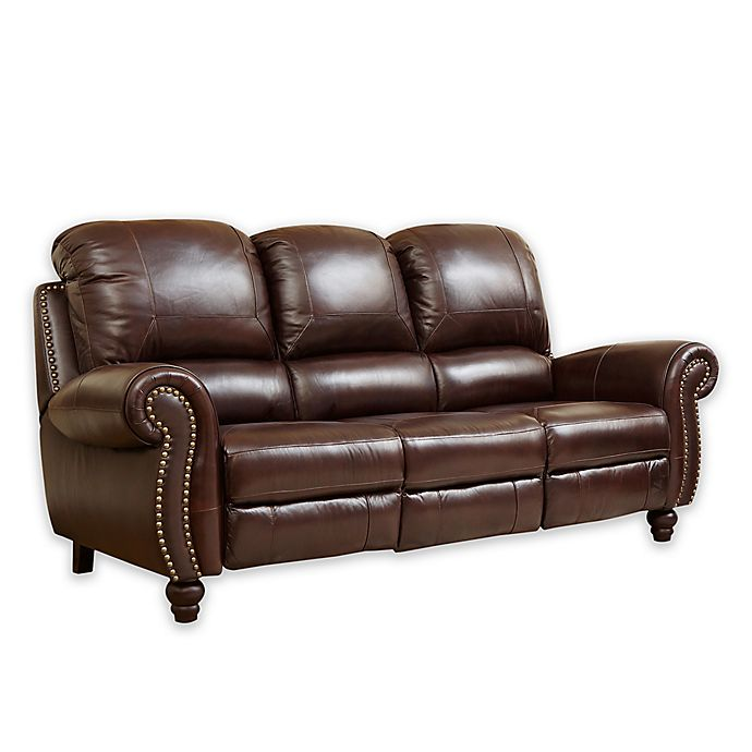 Sensational Abbyson Living Charlotte Leather Sofa In Burgundy Bed Ibusinesslaw Wood Chair Design Ideas Ibusinesslaworg