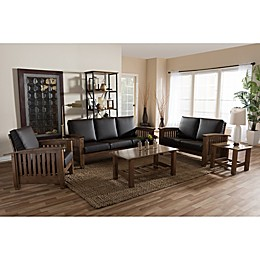 Charlotte 5-Piece Sofa Set in Walnut Brown