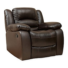Abbyson Living® Providence Leather Recliner in Brown