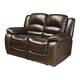 Abbyson Living® Providence Leather Loveseat in Brown