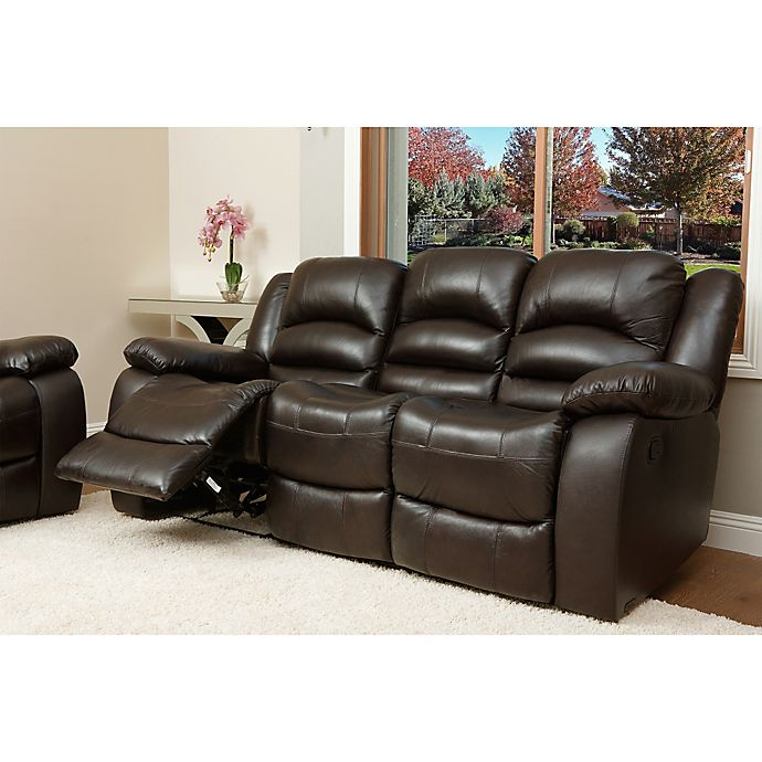 Alternate image 1 for Abbyson Living® Providence Leather Sofa in Brown