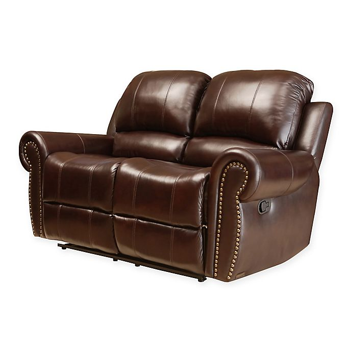 Magnificent Abbyson Living Sedona Leather Loveseat In Burgundy Bed Unemploymentrelief Wooden Chair Designs For Living Room Unemploymentrelieforg