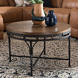 Austin Round Cocktail Table in Antique Bronze