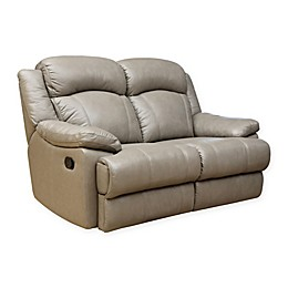 Abbyson Living® Warwick Reclining Leather Loveseat in Grey