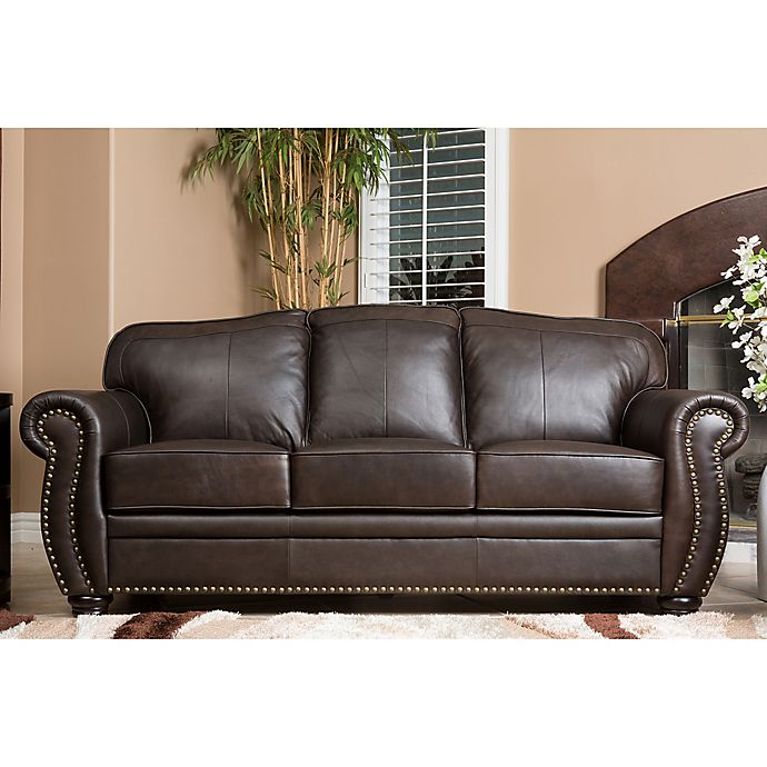Awesome Abbyson Living Palazzo Sofa In Brown Bed Bath Beyond Ibusinesslaw Wood Chair Design Ideas Ibusinesslaworg