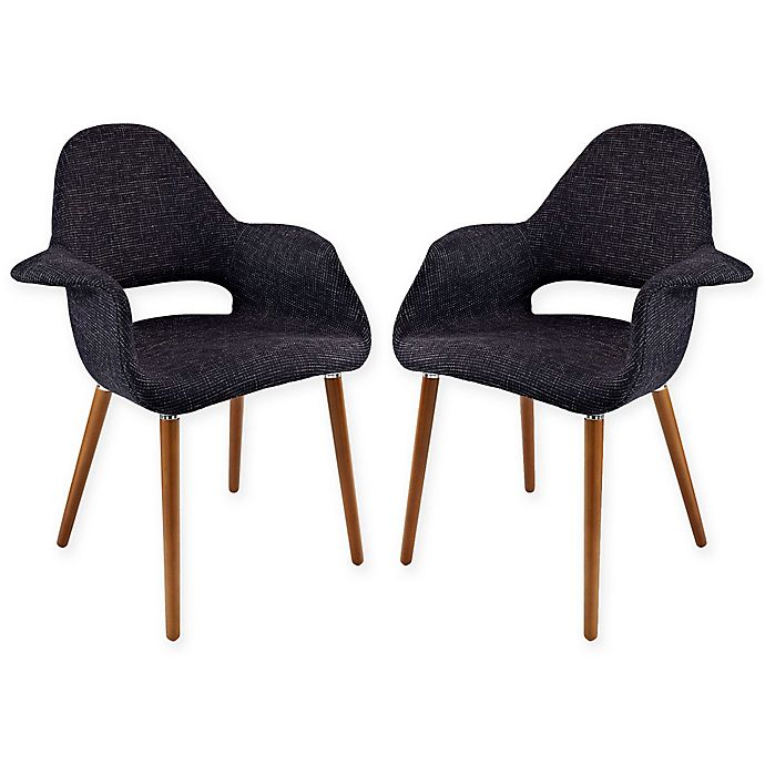 Alternate image 1 for Modway Aegis Dining Armchair in Black (Set of 2)