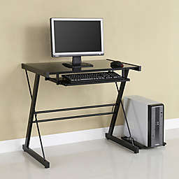 Forest Gate Modern Glass Metal Computer Desk