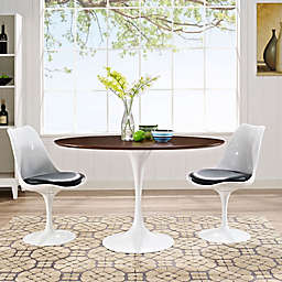 Modway Lippa Oval-Shaped Wood Top Dining Table