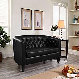 Modway Prospect Faux Leather 2-Seat Loveseat