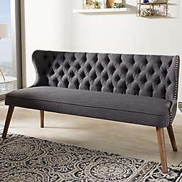 Baxton Studio Scarlett Upholstered Button-Tufted Sofa
