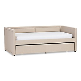 Baxton Studio Raymond Linen Sofa Twin Bed