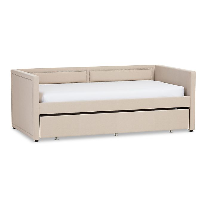 Alternate image 1 for Baxton Studio Raymond Linen Sofa Twin Bed