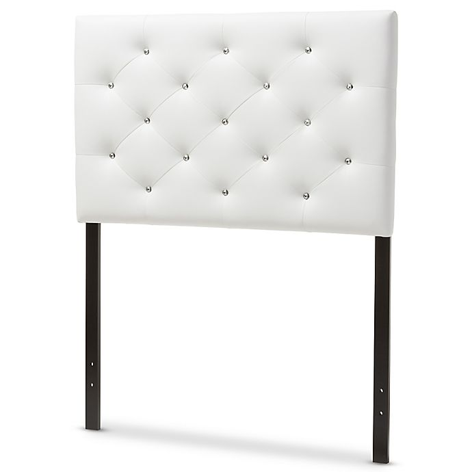 Viviana Upholstered Button Tufted Twin Headboard Bed