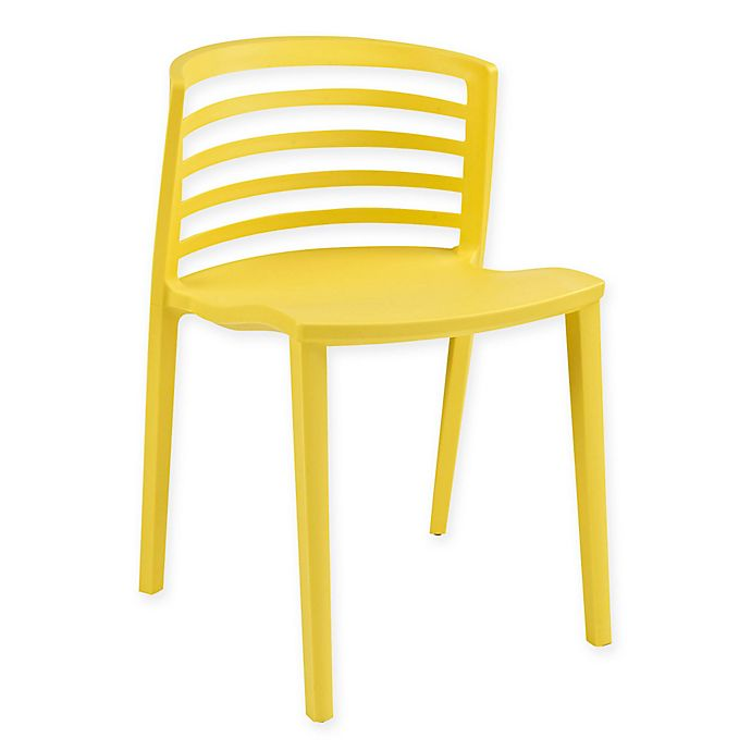 Alternate image 1 for Modway Curvy Dining Side Chair in Yellow