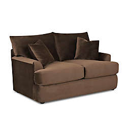 Klaussner® Findley Polyester Loveseat in Chocolate