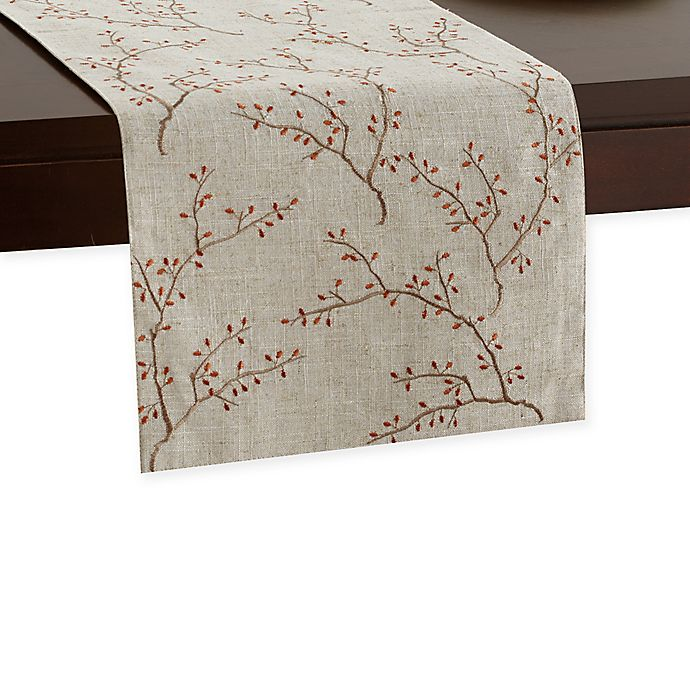 Alternate image 1 for Embroidered Fall Branches Runner in Natural