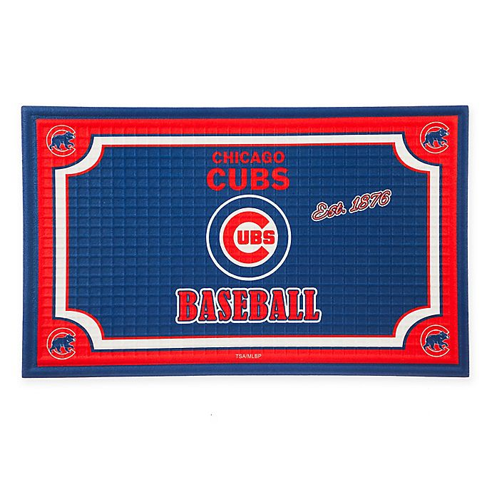 Alternate image 1 for MLB Chicago Cubs Embossed Door Mat