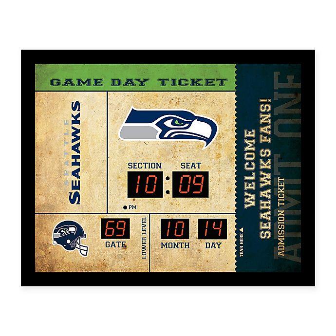 Nfl Seattle Seahawks Bluetooth Scoreboard Wall Clock Bed