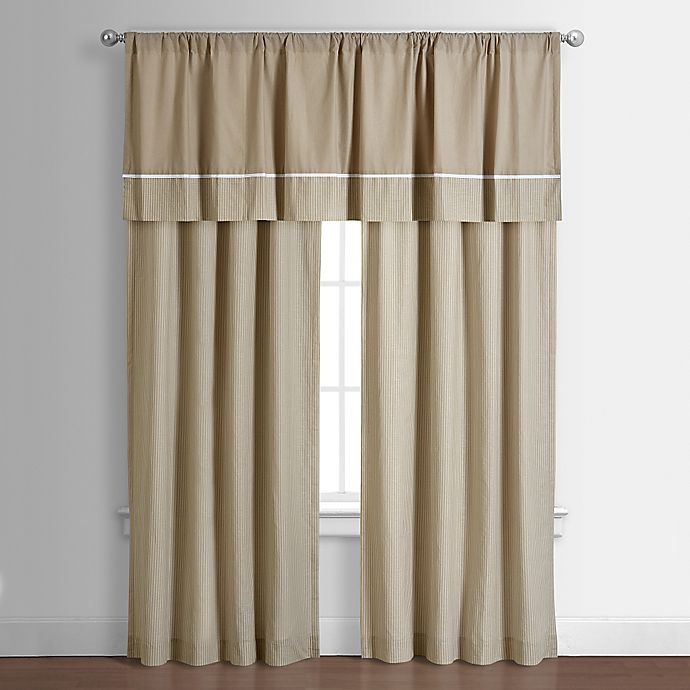 Alternate image 1 for Spencer 82-Inch Window Curtain Panel in Taupe