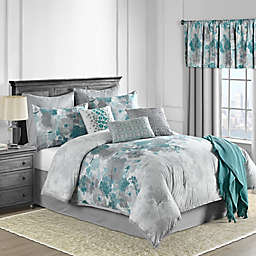 Claire 10-Piece Comforter Set in Teal