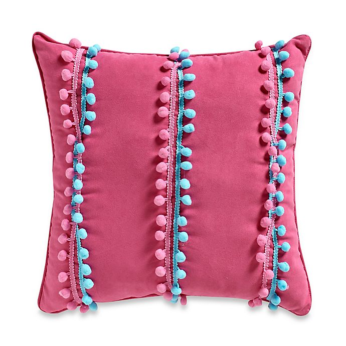 Alternate image 1 for Emily Pom-Pom 16-Inch Square Throw Pillow