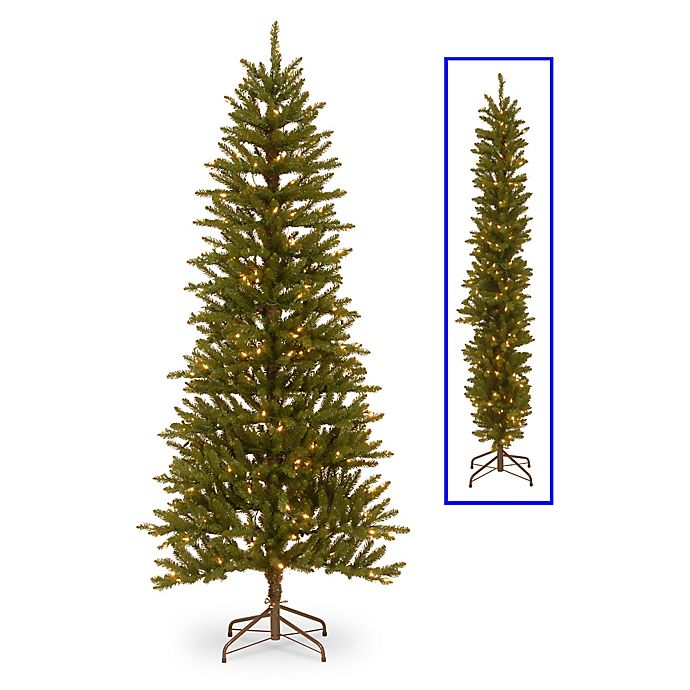 Alternate image 1 for National Tree Company 6.5-Foot Kensington Fir 2-Dimensional Pre-Lit Christmas Tree with Clear Lights