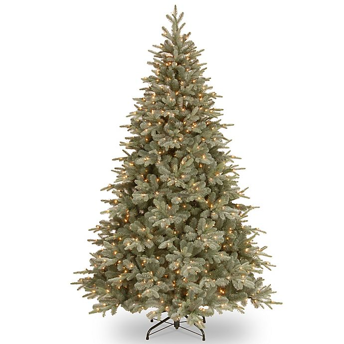 National Tree 7.5-Foot Frosted Arctic Spruce Pre-Lit Christmas Tree ...