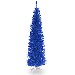 National Tree Company 6-Foot Tinsel Christmas Tree in Blue