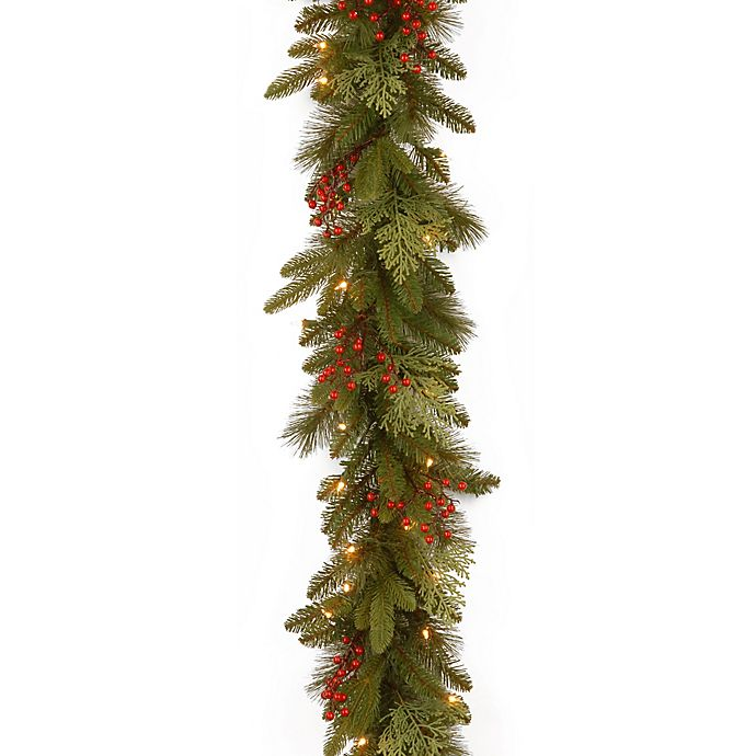 Alternate image 1 for National Tree Company Classical Collection 9-Foot Garland with Clear Lights